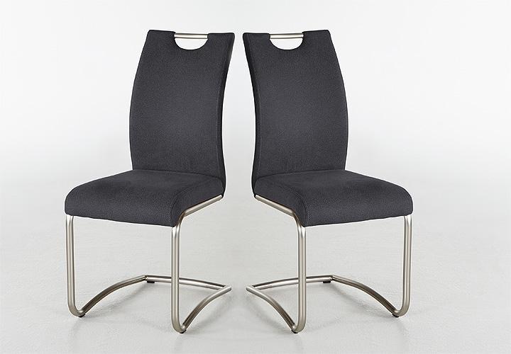 schwingstuhl 4er set claudia ii anthrazit. Black Bedroom Furniture Sets. Home Design Ideas