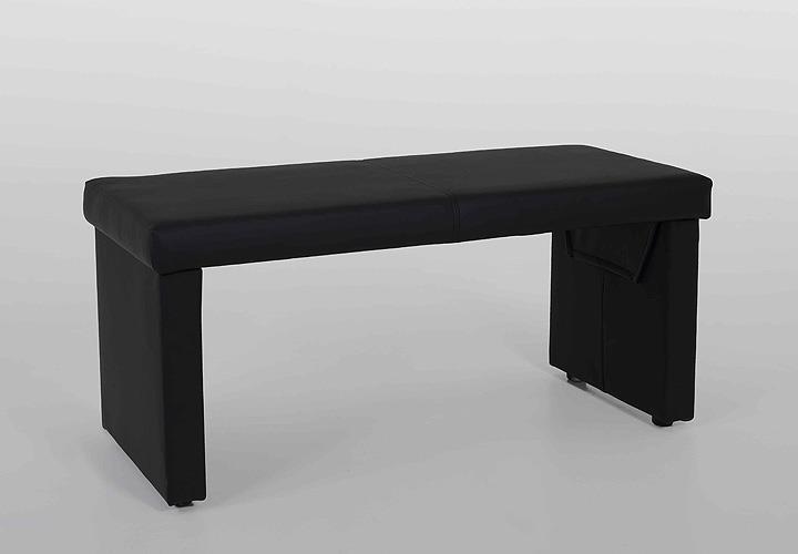 bank taina sitzbank vorbank in schwarz 110 cm. Black Bedroom Furniture Sets. Home Design Ideas