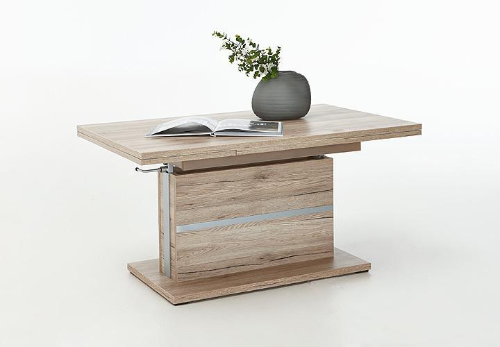 couchtisch thomas san remo eiche h henverstellbar ausziehbar. Black Bedroom Furniture Sets. Home Design Ideas
