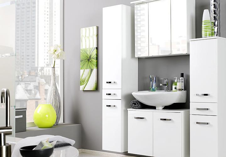 hochschrank bologna badm bel wei hochglanz softclose. Black Bedroom Furniture Sets. Home Design Ideas