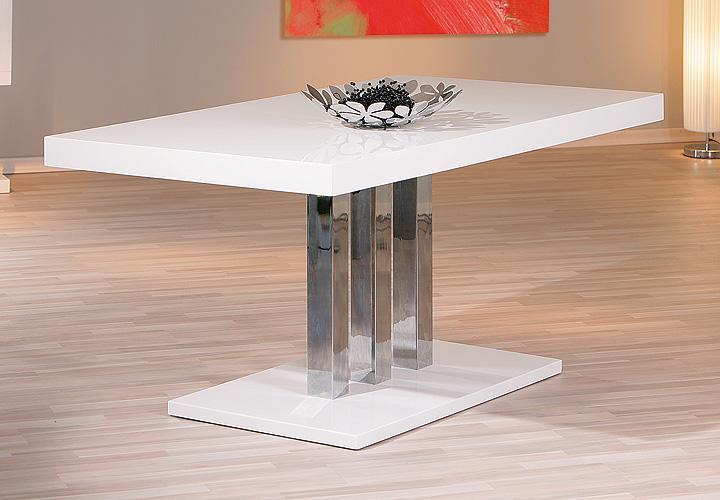 Esstisch PALAZZO MDF Weiß Hochglanz 160x90 cm