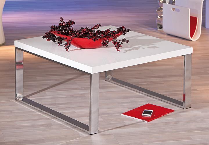 couchtisch pam tisch mdf in wei hochglanz gestell verchromt. Black Bedroom Furniture Sets. Home Design Ideas
