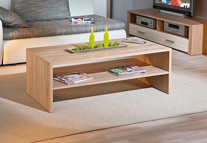 couchtisch absoluto beistelltisch tisch in sonoma eiche dekor. Black Bedroom Furniture Sets. Home Design Ideas