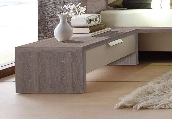 eco nachtkommoden set wei sonoma eiche tr ffel. Black Bedroom Furniture Sets. Home Design Ideas