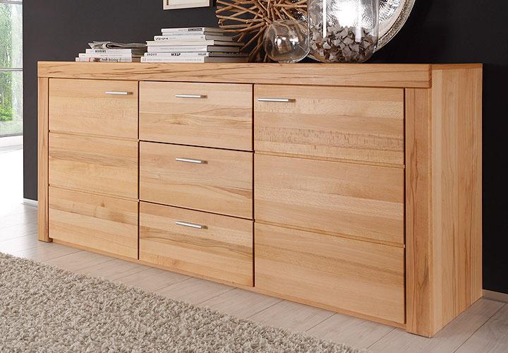 sideboard samira kommode kernbuche teilmassiv neu ebay. Black Bedroom Furniture Sets. Home Design Ideas