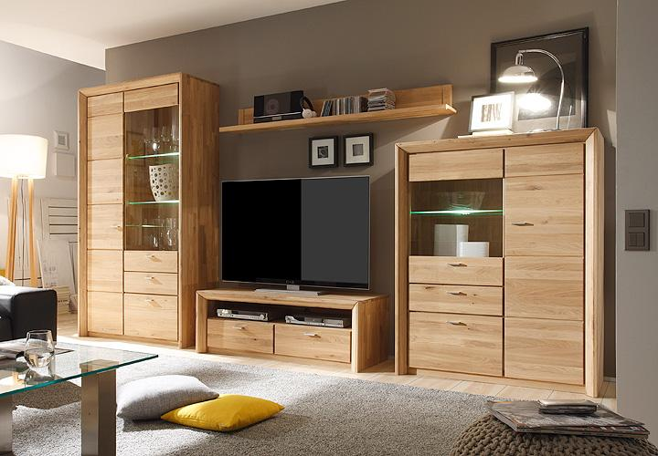 cantus wohnwand eiche massiv die neuesten innenarchitekturideen. Black Bedroom Furniture Sets. Home Design Ideas
