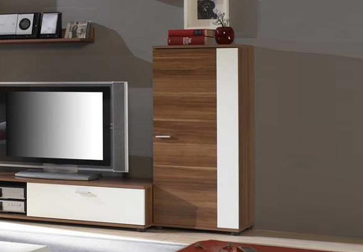 schrank i top five kommode in nussbaum dekor und wei. Black Bedroom Furniture Sets. Home Design Ideas