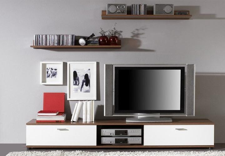 tv board top five i lowboard board in wei und nussbaum. Black Bedroom Furniture Sets. Home Design Ideas