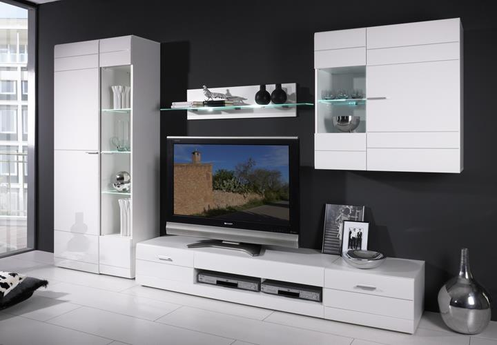 anbauwände wohnzimmer: moderne wohnwände für das wohnzimmer bei, Deko ideen