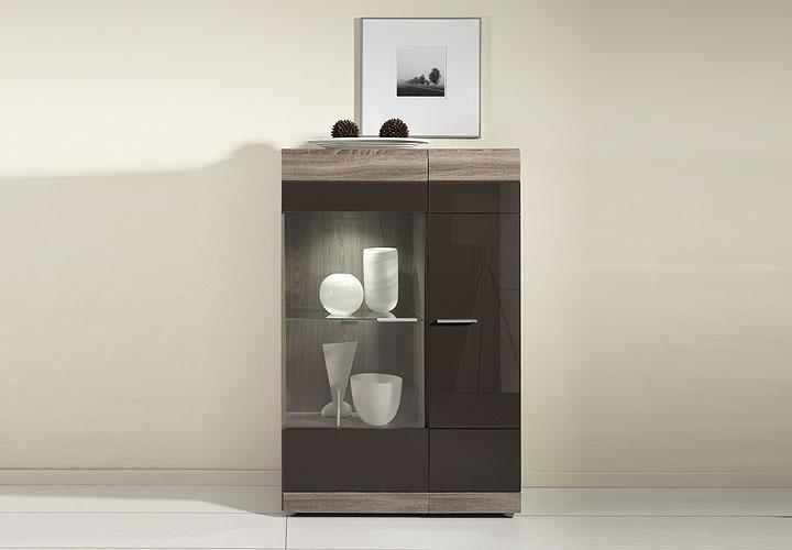 highboard conami rechts braun mdf hochglanz eiche sonoma. Black Bedroom Furniture Sets. Home Design Ideas