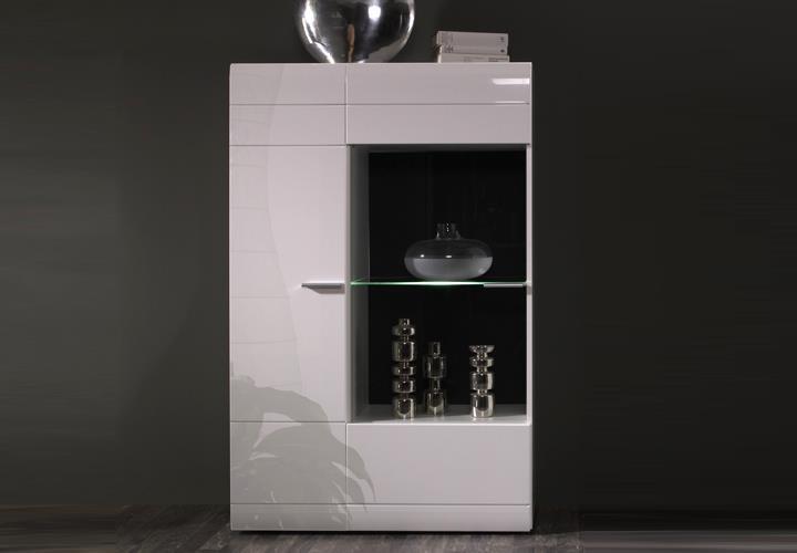 vitrine l carero kleine wohnzimmer vitrine wei hochglanz. Black Bedroom Furniture Sets. Home Design Ideas