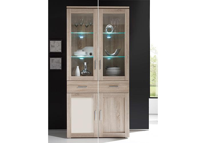 vitrine aristo sonoma eiche magnolia wendef llung. Black Bedroom Furniture Sets. Home Design Ideas
