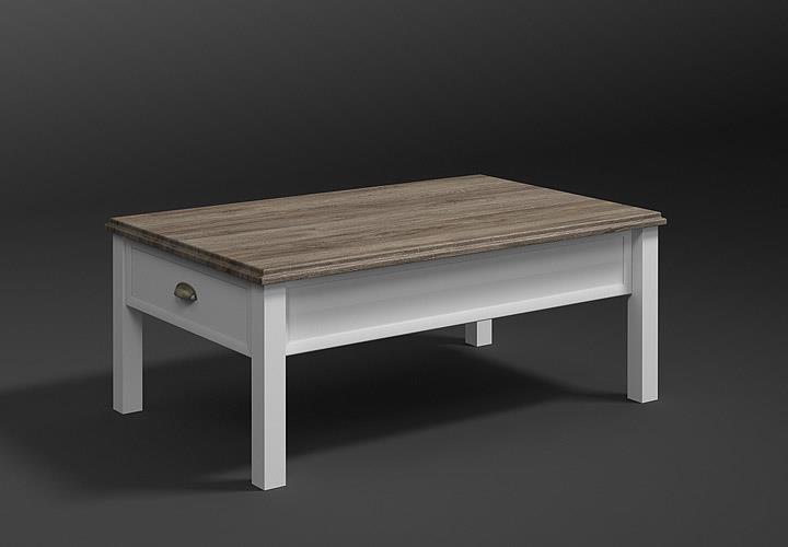 couchtisch chateau wei und san remo eiche 61. Black Bedroom Furniture Sets. Home Design Ideas