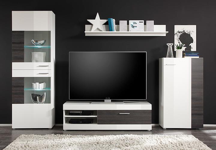 wohnwand mirage anbauwand wei und wenge. Black Bedroom Furniture Sets. Home Design Ideas