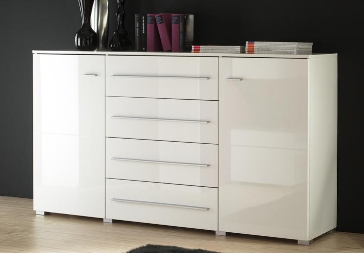 snow sideboard wei hochglanz. Black Bedroom Furniture Sets. Home Design Ideas