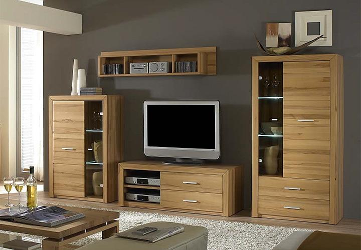 home wohnwand kernbuche massiv. Black Bedroom Furniture Sets. Home Design Ideas