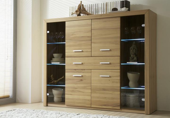 home highboard kernbuche massiv. Black Bedroom Furniture Sets. Home Design Ideas