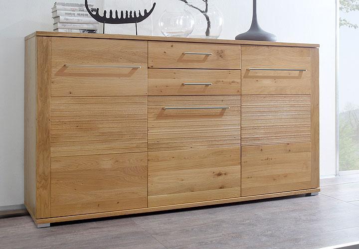 sideboard ferno kommode anrichte wildeiche massiv lackiert. Black Bedroom Furniture Sets. Home Design Ideas