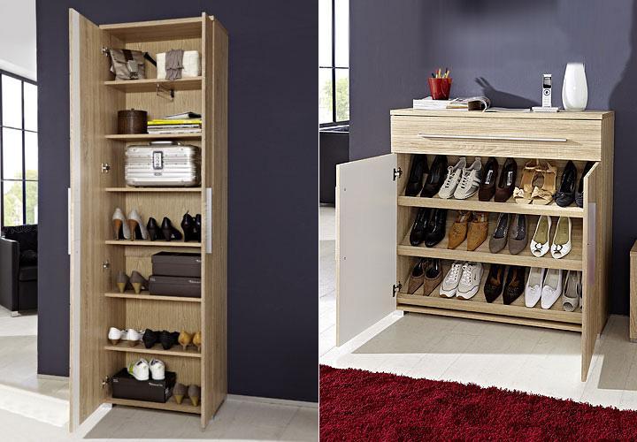 garderobenset i point garderobe in sonoma eiche hell. Black Bedroom Furniture Sets. Home Design Ideas