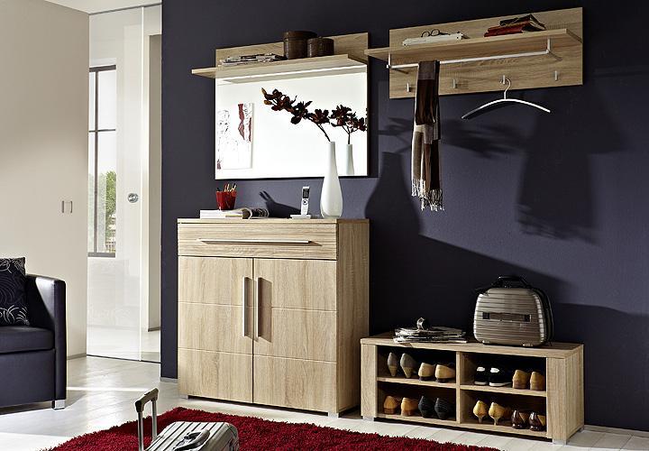 garderobenset ii point sonoma eiche hell. Black Bedroom Furniture Sets. Home Design Ideas