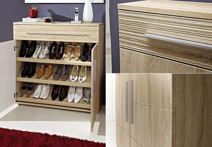 schuhschrank point garderobe schrank in sonoma eiche hell. Black Bedroom Furniture Sets. Home Design Ideas