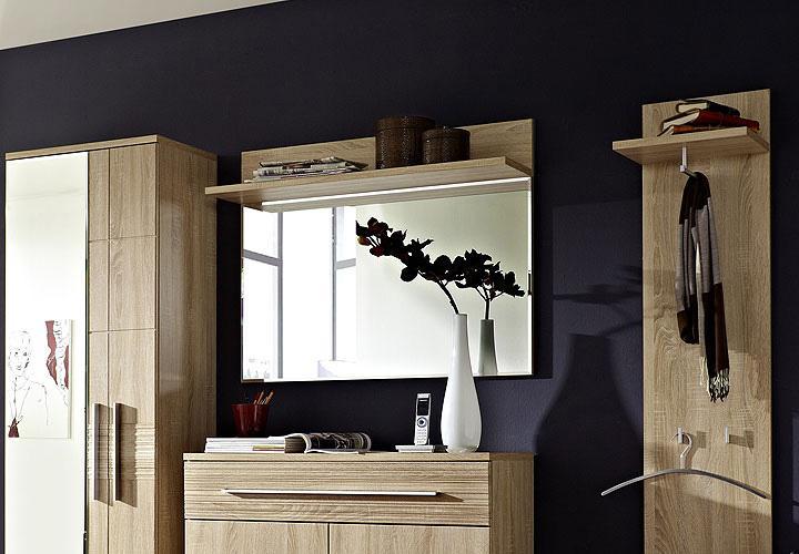 spiegel point wandspiegel in sonoma eiche s gerau in hell. Black Bedroom Furniture Sets. Home Design Ideas