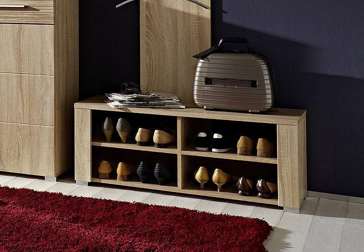 ponto schuhbank sonoma eiche s gerau hell. Black Bedroom Furniture Sets. Home Design Ideas