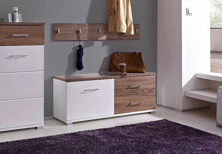 malo schuhschrank wei hochglanz sonoma eiche s gerau. Black Bedroom Furniture Sets. Home Design Ideas