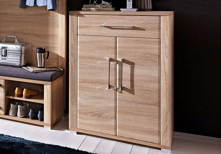 schuhschrank go schrank highboard in eiche sonoma dekor. Black Bedroom Furniture Sets. Home Design Ideas