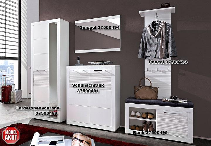 schuhschrank life flurm bel garderobe wei hochglanz geriffelt ebay. Black Bedroom Furniture Sets. Home Design Ideas