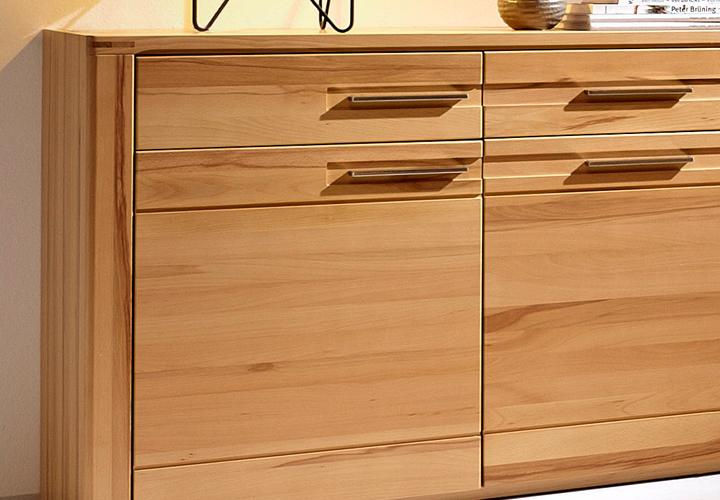sideboard nature plus kernbuche massiv lackiert. Black Bedroom Furniture Sets. Home Design Ideas