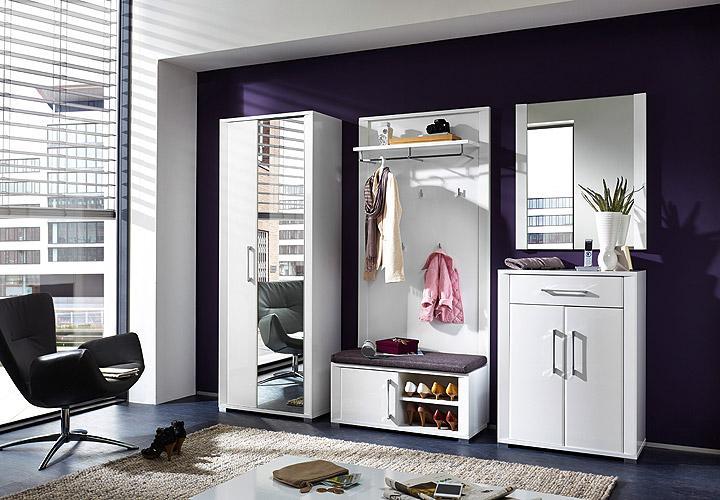 garderobenpaneel go wandpaneel paneel in wei hochglanz mdf. Black Bedroom Furniture Sets. Home Design Ideas