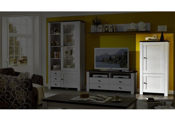 stauraumelement antwerpen l rche weiss pinie dunkel. Black Bedroom Furniture Sets. Home Design Ideas