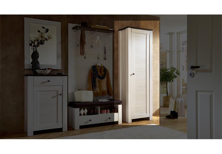 garderobenschrank antwerpen 02 l rche weiss pinie dunkel. Black Bedroom Furniture Sets. Home Design Ideas