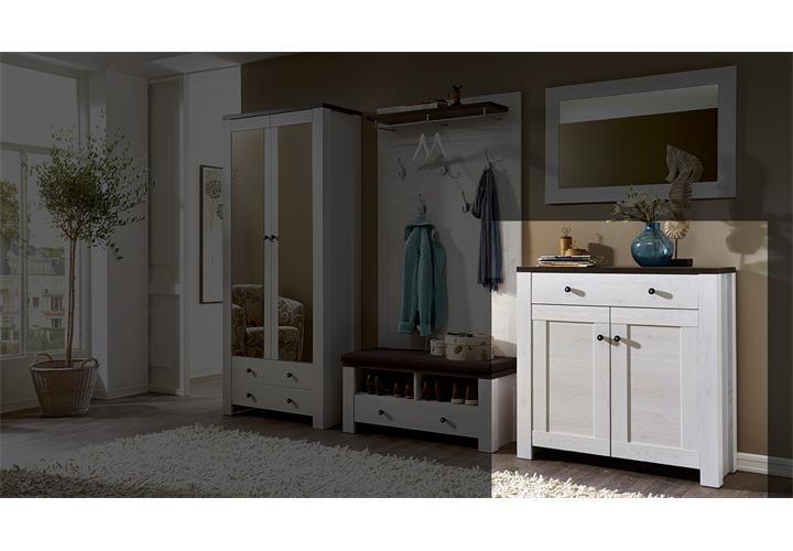 schuhschrank antwerpen 11 l rche weiss pinie dunkel. Black Bedroom Furniture Sets. Home Design Ideas