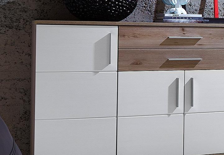 Sideboard jam kommode anrichte in wei silbereiche dekor for Sideboard jam