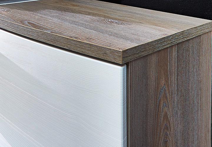 Esstisch Silbereiche ~ Sideboard JAM Kommode Anrichte in weiß Silbereiche Dekor