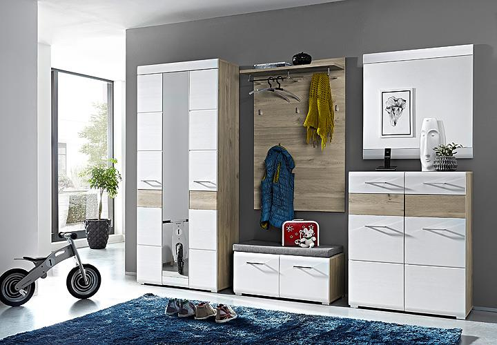garderobenschrank funny wei silbereiche spiegel. Black Bedroom Furniture Sets. Home Design Ideas