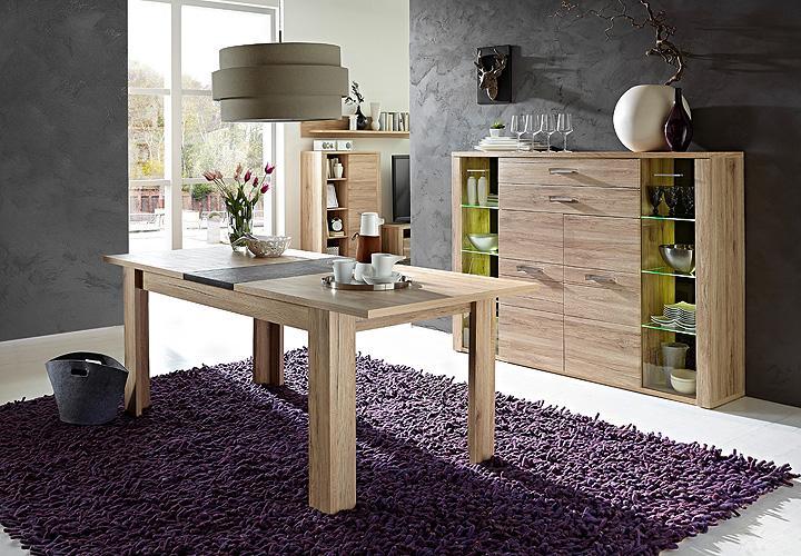 esstisch delta san remo eiche schiefer 160 200. Black Bedroom Furniture Sets. Home Design Ideas