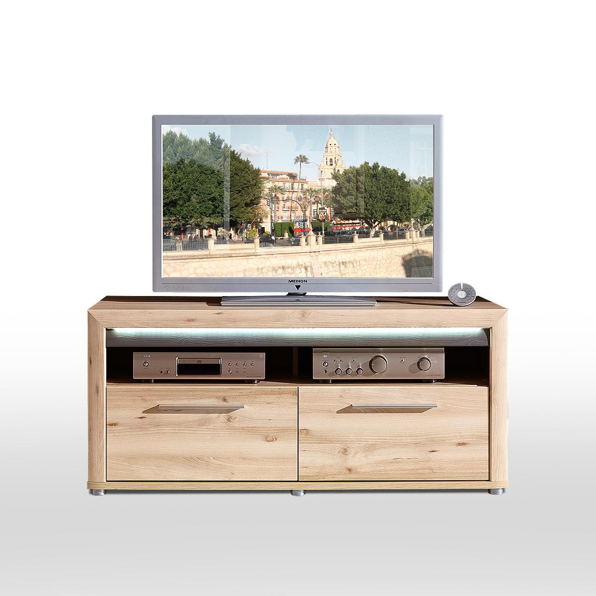 Tv Board Run Lowboard Unterschrank Fernsehschrank In Buche Hell Inkl