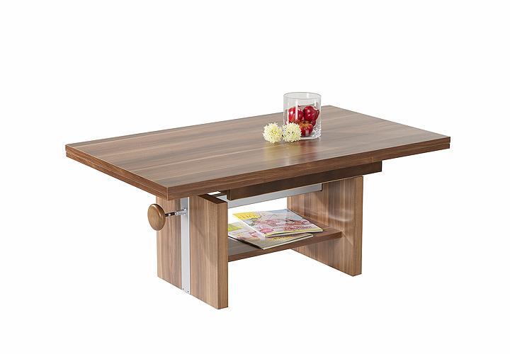 couchtisch gunnar tisch nussbaum ausziehbar 110 180 und h henverstellbar 47 66 ebay. Black Bedroom Furniture Sets. Home Design Ideas