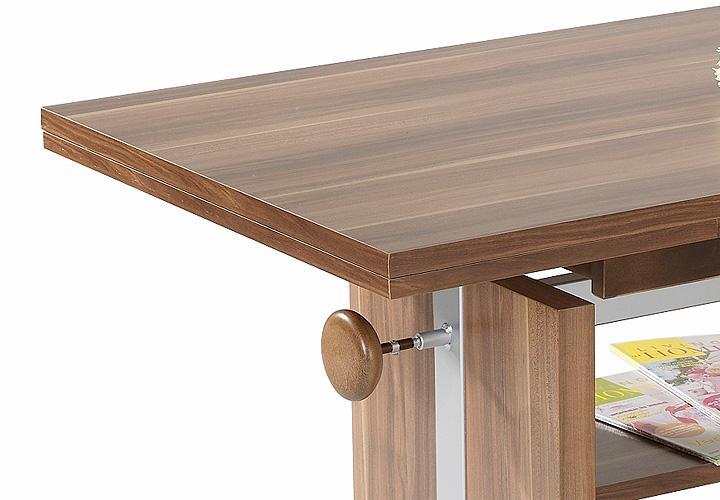 couchtisch gunnar nussbaum ausziehbar 110 180 gasdrucklift. Black Bedroom Furniture Sets. Home Design Ideas