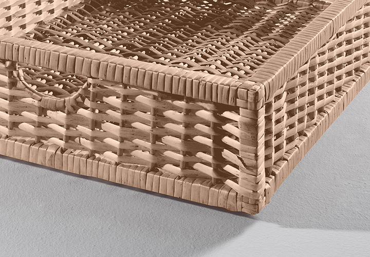 Couchtisch LASSE Sonoma Eiche hell inkl 1 Korb 110×70