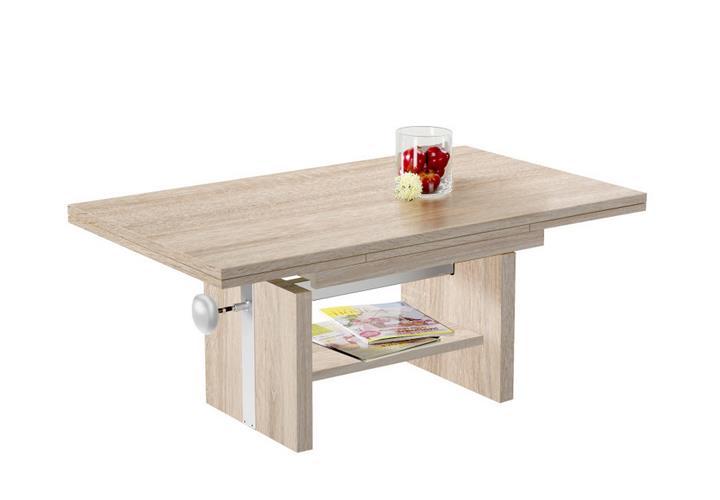 couchtisch gunnar tisch in sonoma eiche hell ausziehbar. Black Bedroom Furniture Sets. Home Design Ideas