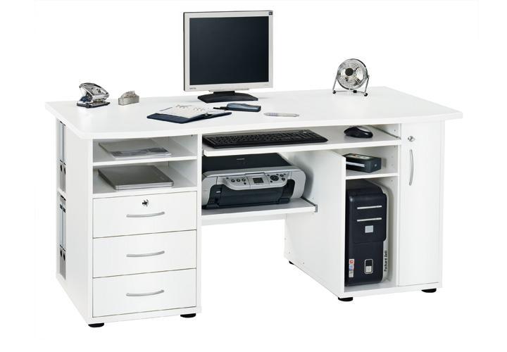computer schreibtisch cs 160 weiss von jahnke. Black Bedroom Furniture Sets. Home Design Ideas