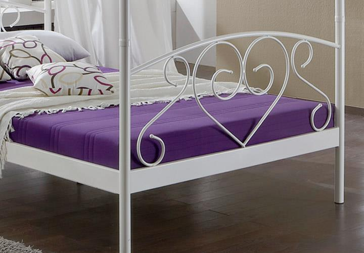 metallbett lisa himmelbett gestell in wei 120 x 200 cm. Black Bedroom Furniture Sets. Home Design Ideas