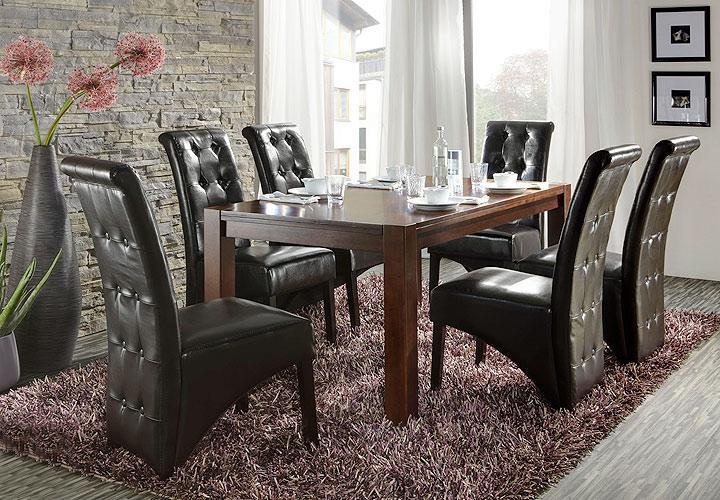 liona 4er set stuhl braun. Black Bedroom Furniture Sets. Home Design Ideas
