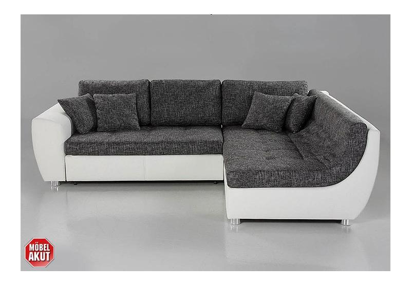 Wohnlandschaft galia sofa ecksofa in wei grau neu for Wohnlandschaft 270 cm