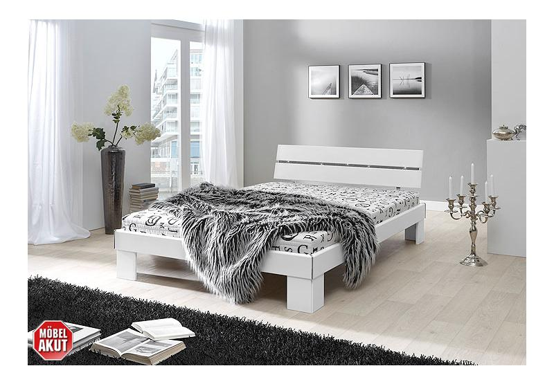 bett flow schwarz inkl matratze und rollrost 140x200 cm. Black Bedroom Furniture Sets. Home Design Ideas