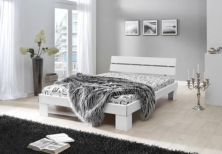 bett flow 140 x 200 cm wei inkl matratze und rollrost. Black Bedroom Furniture Sets. Home Design Ideas